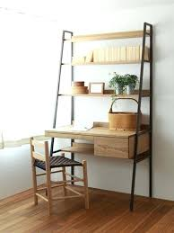 ladder desk and bookcase solo desk made to order perfect small space desk ladder