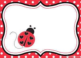Ladybug Invitations Template Free Blank Ladybug Invitation Template Invitation Card
