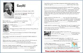 Gandhi (Free Worksheets/Notebook Pages) - Homeschool Den