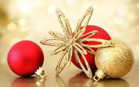 Red And Gold Christmas Decorations Widescreen Wallpaper Wide