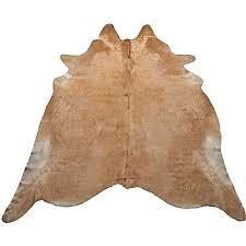 natural cowhide rug beige