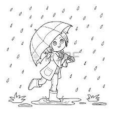 Autunno Pioggia Vettoriali Illustrazioni E Clipart