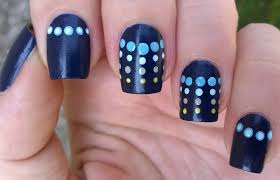Life World Women: Dark Blue Dotticure Nail Art Using 'Suede' Nail ...