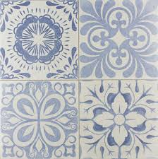 Patterned Tiles For Kitchen Skyros Delft Blue Wall And Floor Tile Wall Tiles From Tile Mountain
