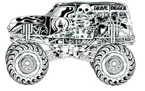 Monster Truck Coloring Book Legalleadsinfo