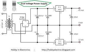 dual voltage power supply volt wiring diagram you can also use 7809 for 9 volt positive power supply and 7909 for negative voltage power supply