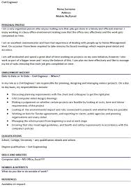 Cv Site Engineer Civil Civil Engineer Cv Example For
