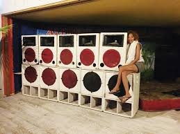 jamaican sound system. the sounds systems in jamaica are powerful and often uniquely personalized jamaican sound system