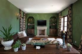 mediterranean style living room in green design custom design construction