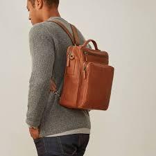 luxury personalised mens leather rucksack santino l