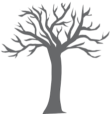 Small Picture with bare branches coloring page