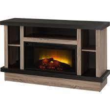 prokonian 53 weathered light oak and ebony media fireplace for tvs up to 51 com