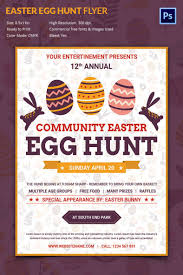 Excellent Easter Egg Hunt Flyer Template | Free & Premium Templates