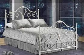 White wrought iron headboard queen 8