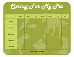 Editable Chore Charts Printable Pet Care Chore Chart Dog