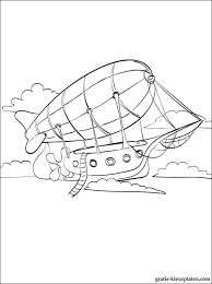 Kleurplaat Zeppelin Gratis Kleurplaten