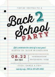 Back To School Invitation Template School Paper Party Back To School Invitation By Purpletrail Com