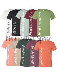 Fall Colors Digital File Shirt Color Chart Bella And