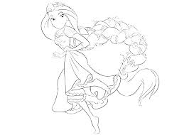 Rapunzel Colouring Sheet 488websitedesigncom
