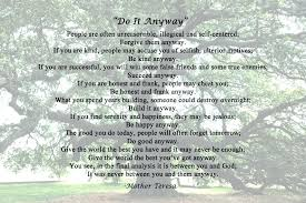 Mother Teresa Quotes Love Anyway Adorable Mother Teresa Quotes Do It Anyway Plus Top Mother Quotes Love Anyway