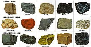 Some Types Of Rocks Rock Identification Rocks Minerals