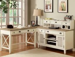 antique white computer desk captivating l shaped home office furniture sets with modular drawers and cabinet