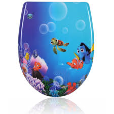 blue soft close toilet seat. toilet seat finding dory. soft closing dory blue close c