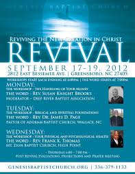 church revival flyers genesis baptist church revival promotional flyers by robert