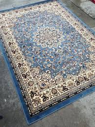 blue persian rug hand knotted wool antique oriental woven made australia