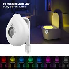 Us 214 30 Offivyshion Led Toilet Seat Night Light Smart Motion Sensor Waterproof Wc Lamp 8 Colors Changeable Lamp Use Aaa Battery Powered In