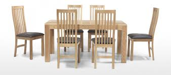 cube oak 160 cm dining table and 6 chairs