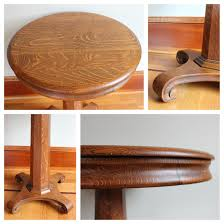 f4240 round oak side table