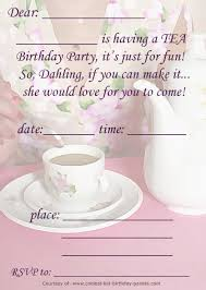 Tea Party Free Printables Gorgeous Free Printable Tea Party Invitations Templates By