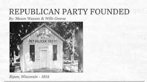 Image result for Ripon, Wisconsin 1854