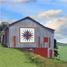 Free Barn Quilt Patterns   Quilt Barn Tile with Mariners Compass ... & Free Barn Quilt Patterns   Quilt Barn Tile with Mariners Compass Pattern by  imagesetc on Etsy Adamdwight.com