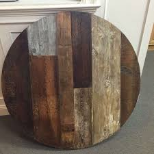 rustic wood round dining table awesome round dining table top reclaimed wood multi wood variety