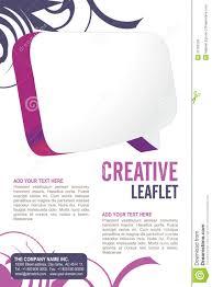 Leaflet Design Stock Vector Illustration Of Design Decoration