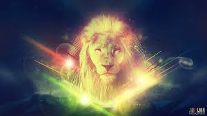 lion wallpaper rainbow