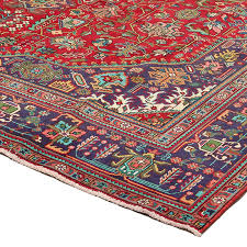 10 x 13 2 very unique vintage persian rug with tribal diamond