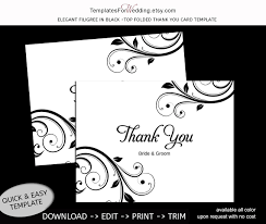 A2 Card Template Word Thank You Card Template Instant Download Editable Word Doc