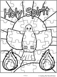 Small Picture Holy Spirit Puzzle Activity Sheet Crafting The Word Of God