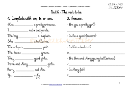 WORKSHEETS COMPLETE-ANSWER - Verb to be U6