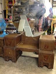 1930s vanity with mirror antique vanity dresser with round mirror furniture vintage dresser with round mirror