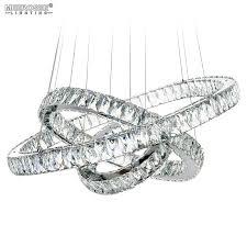 meerosee modern crystal chandelier lighting led 3 rings d27 56 19 69 11 81 big crystal md2226 753