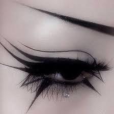crazy black eyeliner