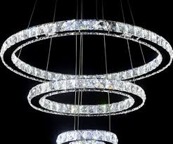 led crystal ring chandelier light modern led circle