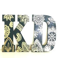 wooden letter design ideas designs kappa delta letters with black acrylic paint and gold image