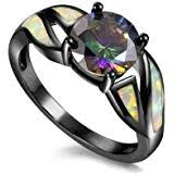 FEDULK Womens Trend Retro Ring Pentagram ... - Amazon.com