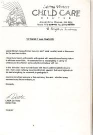care of letter letter of recommendation sample for daycare worker