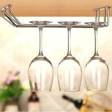 charming hanging wine glass rack rack ikea grundtal stainless steel hanging wine glass rack